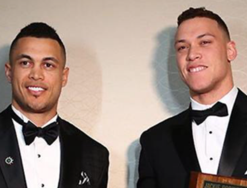 Giancarlo Stanton and Aaron Judge