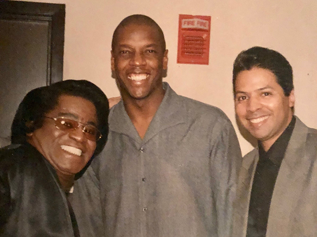 James Brown, Dwight Gooden and Ray Negron