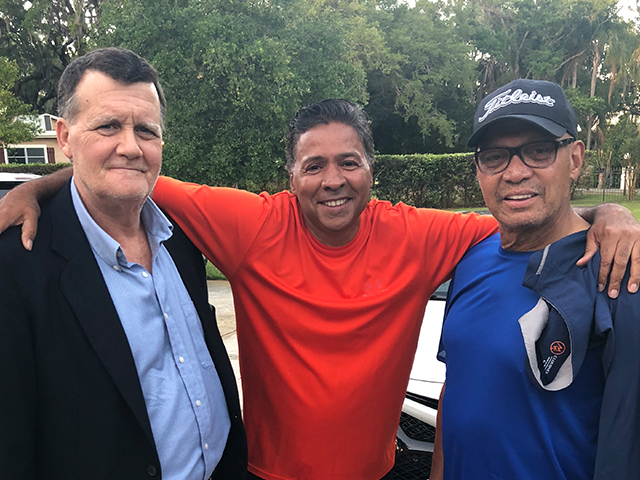 Ray Negron with Hank Steinbrenner and Reggie Jackson