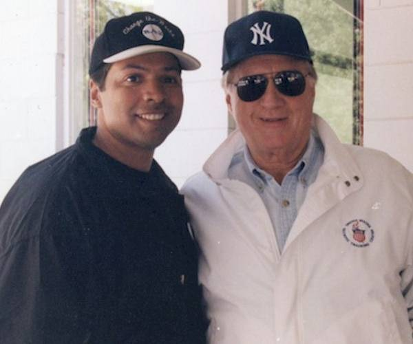 Ray Negron and George Steinbrenner (Courtesy Ray Negron)